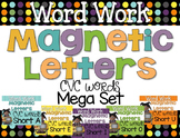 Word Work {Magnetic Letters} CVC Words {Mega Bundle}
