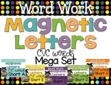 Word Work {Magnetic Letters} CVC Words {Mega Bundle}