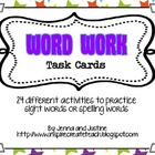 Word Work Task Card Activities