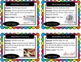 Artsy Teacher Cafe - Word Work Task Cards, Set/16 *Hands-On*