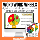 Word Work Wheels For Your Word Work Center