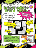Word Work and Vocabulary 5-Day Intermediate Unit EXPANDING BUNDLE