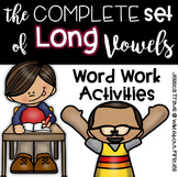 Word Work with Long Vowels {The Complete Set!}