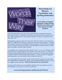 Words Their Way:  Complete Program Lesson Plans (4 Stages)