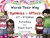 Words Their Way - Syllables and Affixes Spellers - A Works