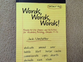 Words, Words, Words! (Ready-to-Use Games and Activities fo