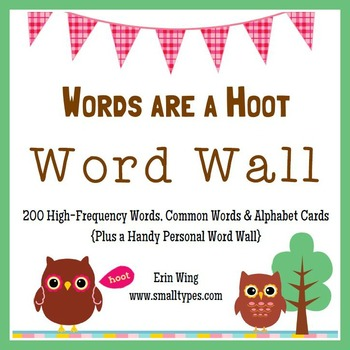 Words are a Hoot: Owl Themed Word Wall