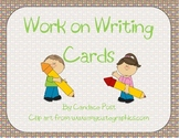 Work on Writing - Blackline Masters of Cards for Writing Center