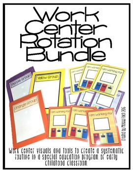 Work Center Rotation Bundle- For Special Education Classroom
