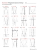 Worksheets:Writing a Quadratic Equation from the Graph