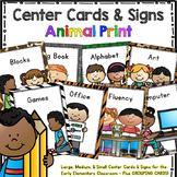 Workstation Rotation Signs and Cards (Animal Print) – Prog