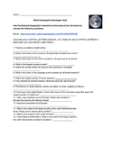 World Geography Scavenger Hunt & ANSWER KEY