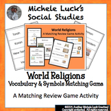 World Religions Matching Card Game Review Activity