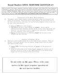 World Religions Unit Test - KCCT M/C + Open Response Questions