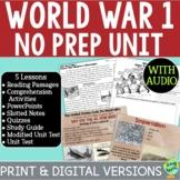 World War I No Prep Unit Bundle