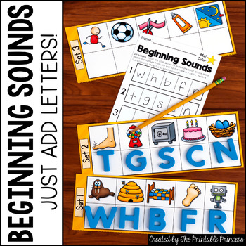 Write On, Wipe Off - Activities to Practice Beginning Sounds for Kindergarten