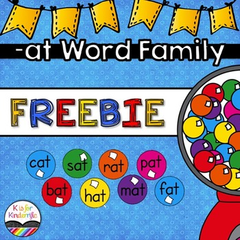 Write the Room FREEBIE  (-at word family)