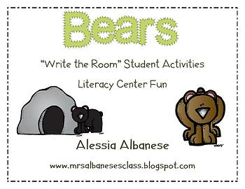 Write the Room Literacy Center - Bears