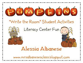 Write the Room Literacy Center - Pumpkins