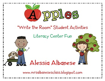 Write the Room Literacy Center Student Activities - Apple Theme