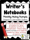 Writer's Notebook ~ Monthly Writing Prompts for the Year