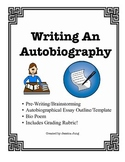 Writing An Autobiography--Includes Rubric