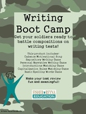 Writing Boot Camp Test Prep for Compositions