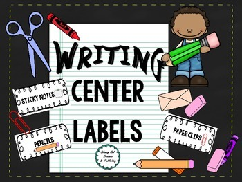 Writing Center Labels by Classy Gal Designs and Publishing