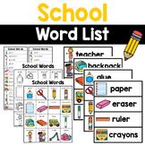 Writing Center Tools- School Words