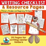 Writing Checklist -Resource Pages for Students' Writing Fo
