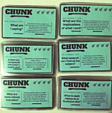 SALE: Writing Chunk Task Cards: Making Your Paragraphs (Re