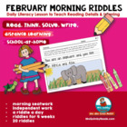 Writing -February Riddles- Literacy- Grades 1-2