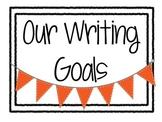 Writing Goals Clip Chart Poster