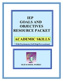 IEP Goals and Objectives Resource Packet Academics