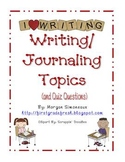 Writing/ Journaling Topics