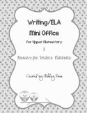 Writing Mini Office for Upper Elementary- BLACK & WHITE version