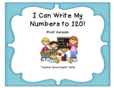 Writing Numbers to 120 Practice Packet - Print Version