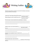 Writing Outline Worksheet (Travel Theme)