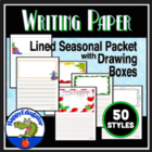 Writing Paper - Lined Paper - Seasonal Packet with Drawing Boxes