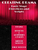 "Writing Activities: Creating Drama - ""Basic Stage Directio"