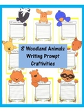 Writing Prompt Craftivities: Woodland Animals