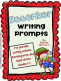 Writing Prompts for December {For Journals and Writing Centers}