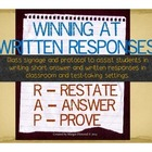 Writing Short-Answer Written Responses *Classroom Strategy Signs*