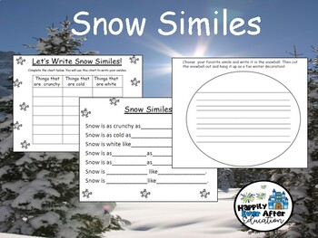 Writing Snow Similes