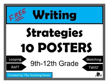 https://www.teacherspayteachers.com/Product/Writing-Strategies-Posters-High-School-1975149
