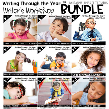 Writers Workshop :Writing Through the Year Bundle Complete Set 1-8 {CC Aligned}
