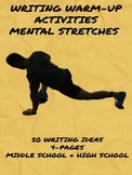 Writing Warmup Activities - Mental Stretches