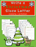 Write a Christmas Letter a differentiated lesson for begin