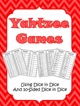 Yahtzee Math Games