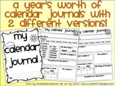 Year Long Calendar Journals